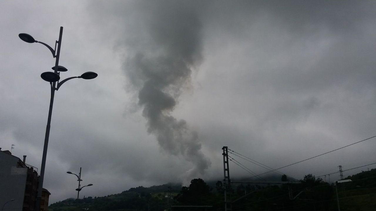 Temperaturas bajo mínimos en Galicia.Contaminación en Asturias