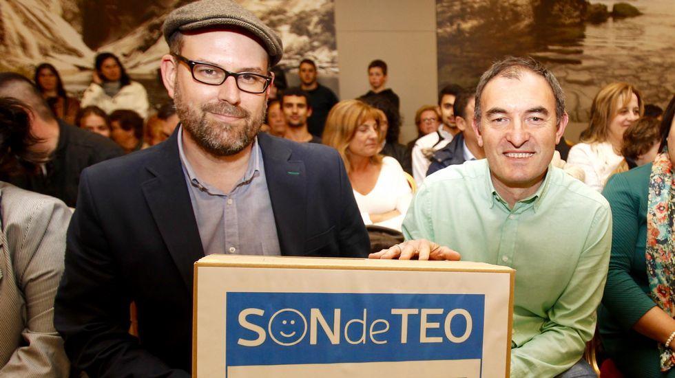 Martiño Noriega cerró su etapa política en Teo presentando a Rafael Sisto como candidato.