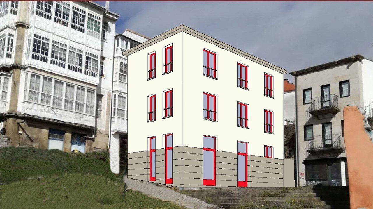 Calendario brigantino para el 2021.Recreación del edificio cuya rehabilitación se está culminando