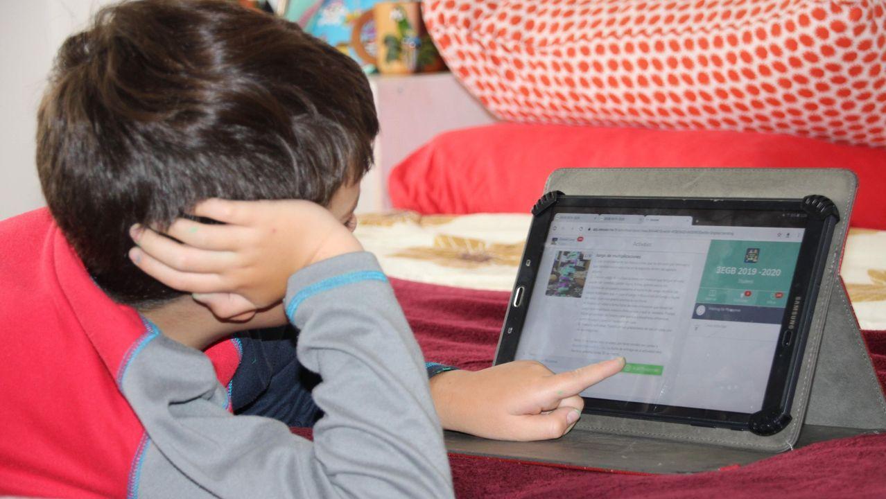 ordenador, brecha digital, educación, alumno, teleformación .La consejera de Educación del Principado, Carmen Suárez