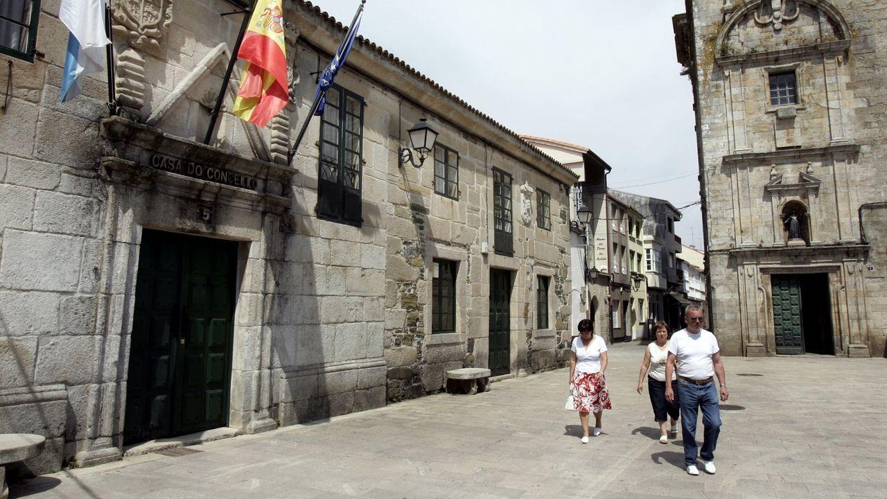 Casa do Concello de Melide en una imagen de archivo