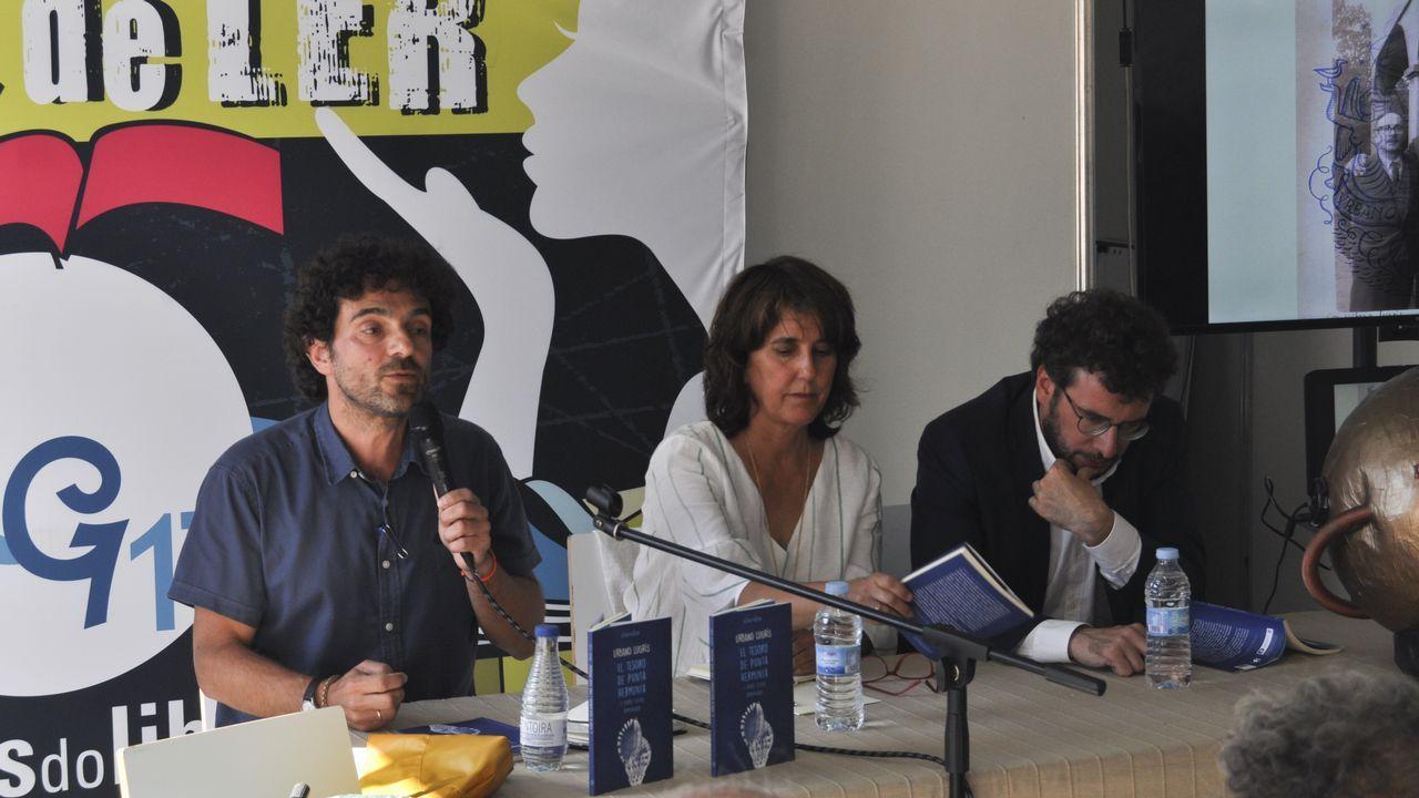 O cineasta Lois Patiño, nunha imaxe de arquivo, durante unha exposición que realizou na galería Vilaseco