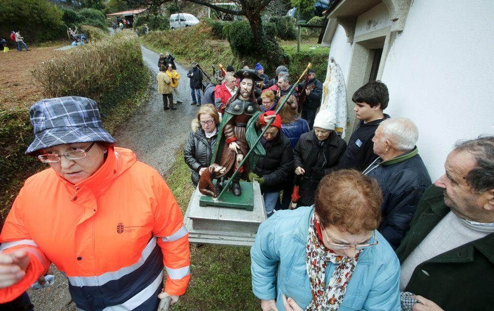 Muchos cariñeses regresan cada año para disfrutar de la romería de San Xiao do Trebo.