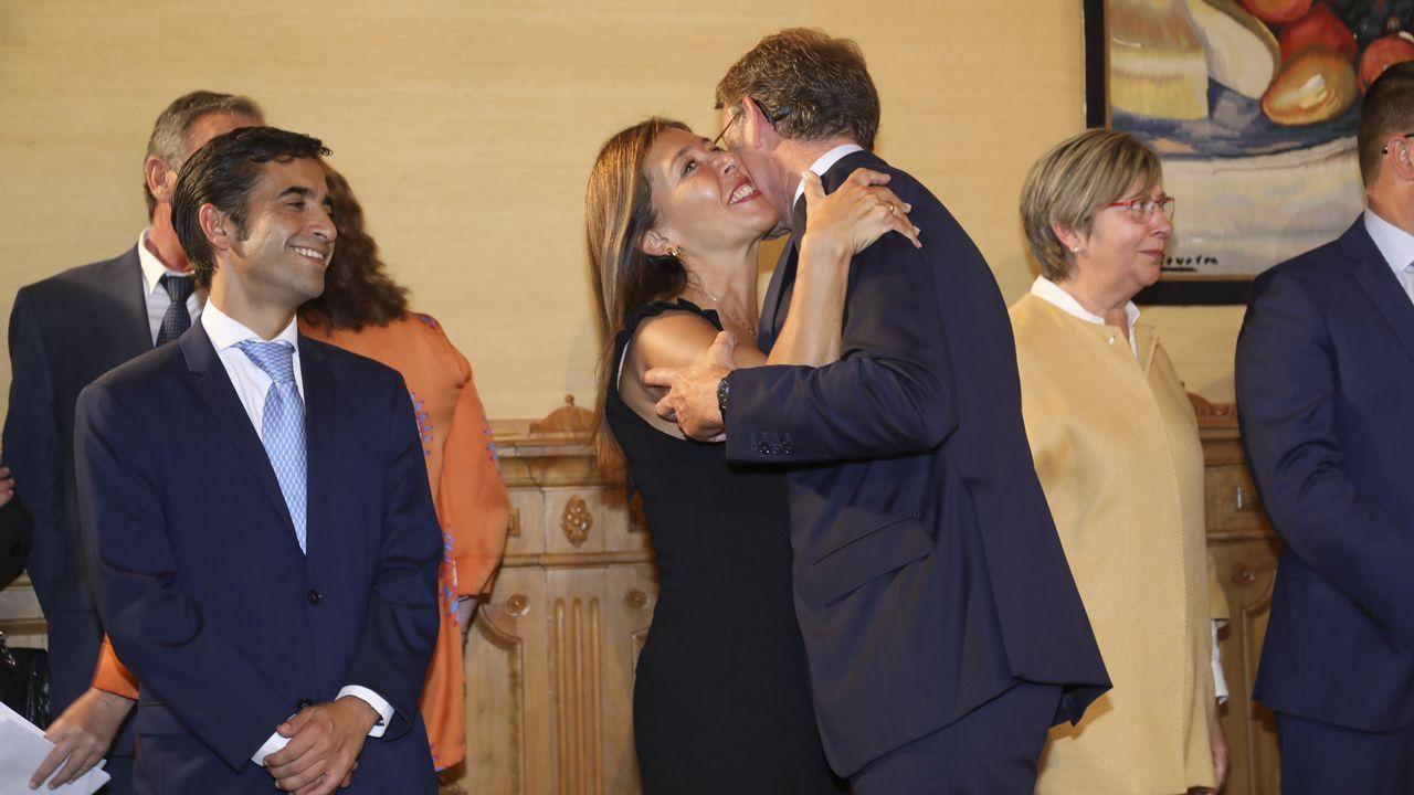 Mato, Feijoo y Rey Varela.