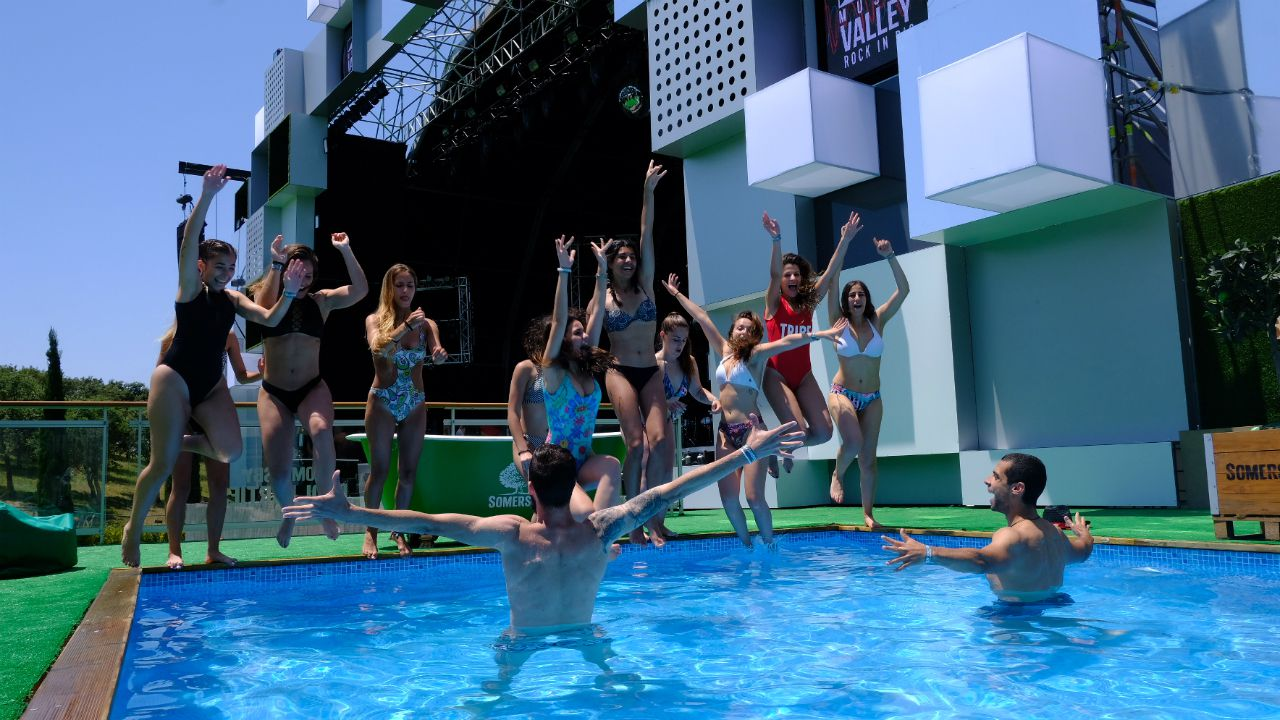 Pool party en el Rock in Rio Lisboa
