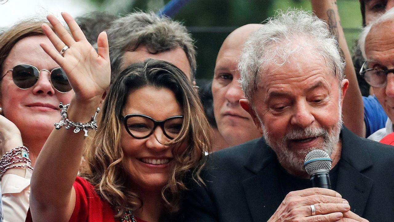 Rosângela da Silva no se ha separado de Lula desde su salida de prisión