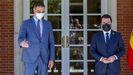 El presidente del Gobierno recibe al presidente de la Generalitat en el Palacio de la Moncloa