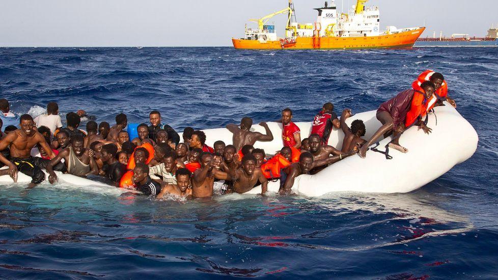 El 20 Encuentro de Fotoperiodismo «Ciudad de Gijón» hace sitio a los refugiados.El grupo de refugiados eritreos