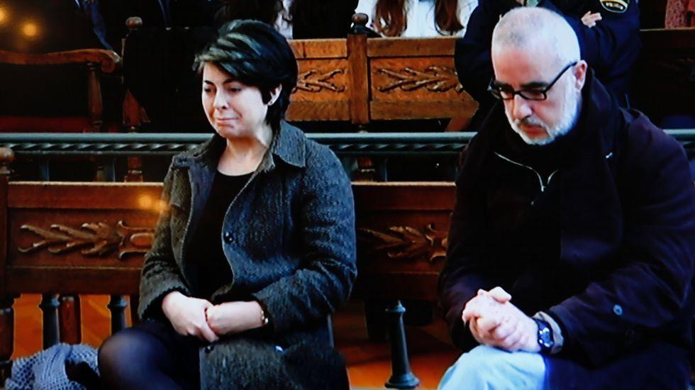 Rosario Porto y Alfonso Basterra, durante el juicio