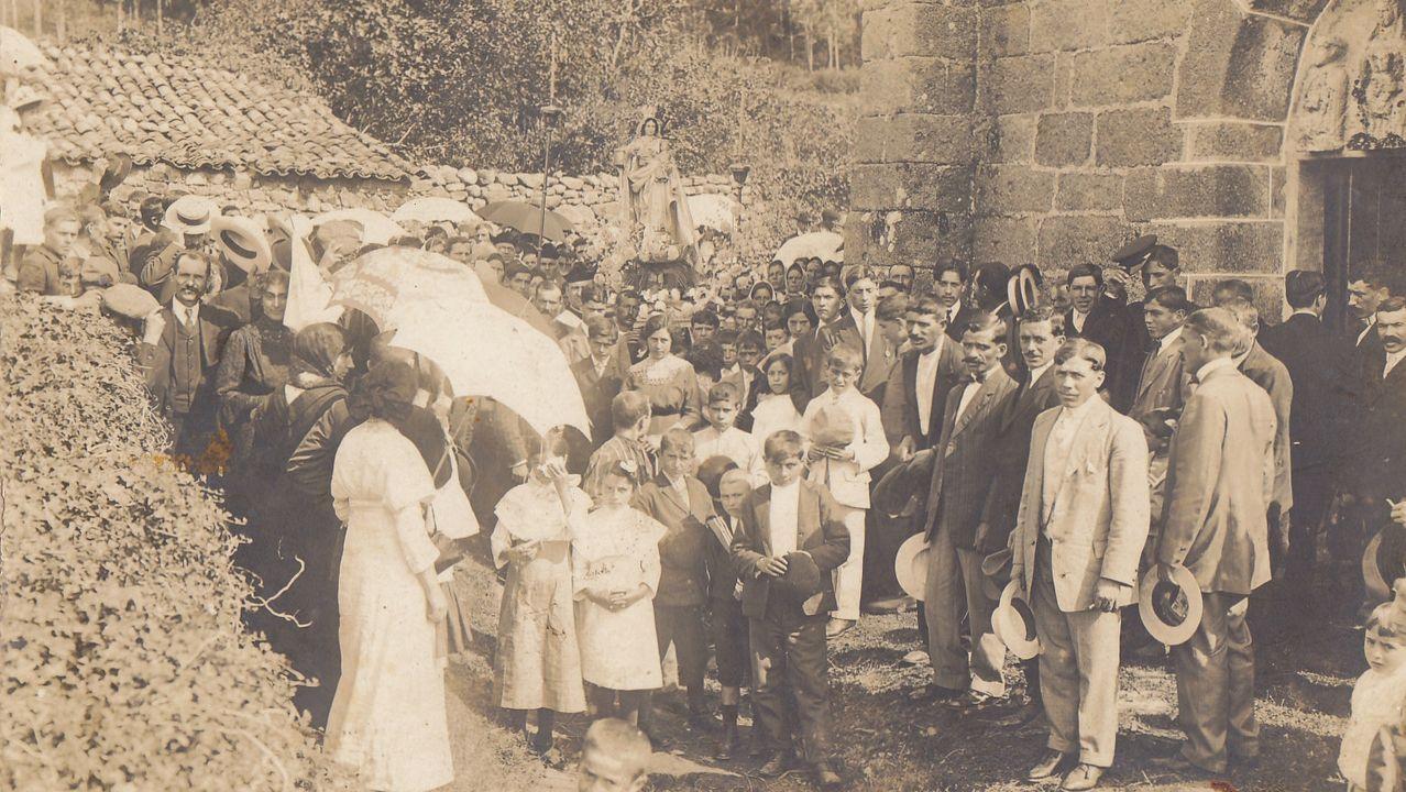 La romería de Chanteiro, en una imagen del año 1912