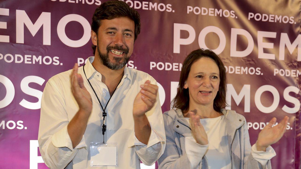 Comparece Gómez-Reino, el nuevo líder de Podemos Galicia.Grupo de En Marea en el Congreso de los Diputados