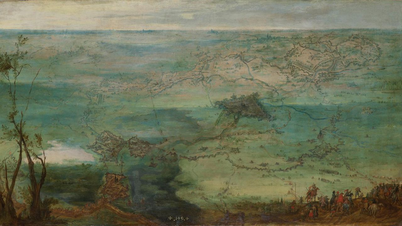 Vista del sitio de Breda, de Peter Snayers, segundo tercio del siglo XVII. Colección Villagonzalo