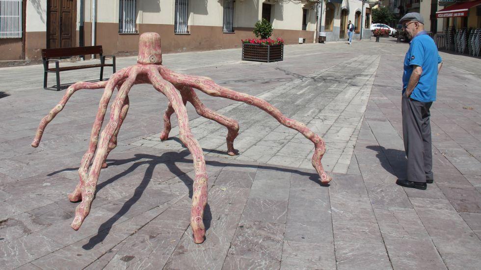 Arte efímero decora las calles de O Barco