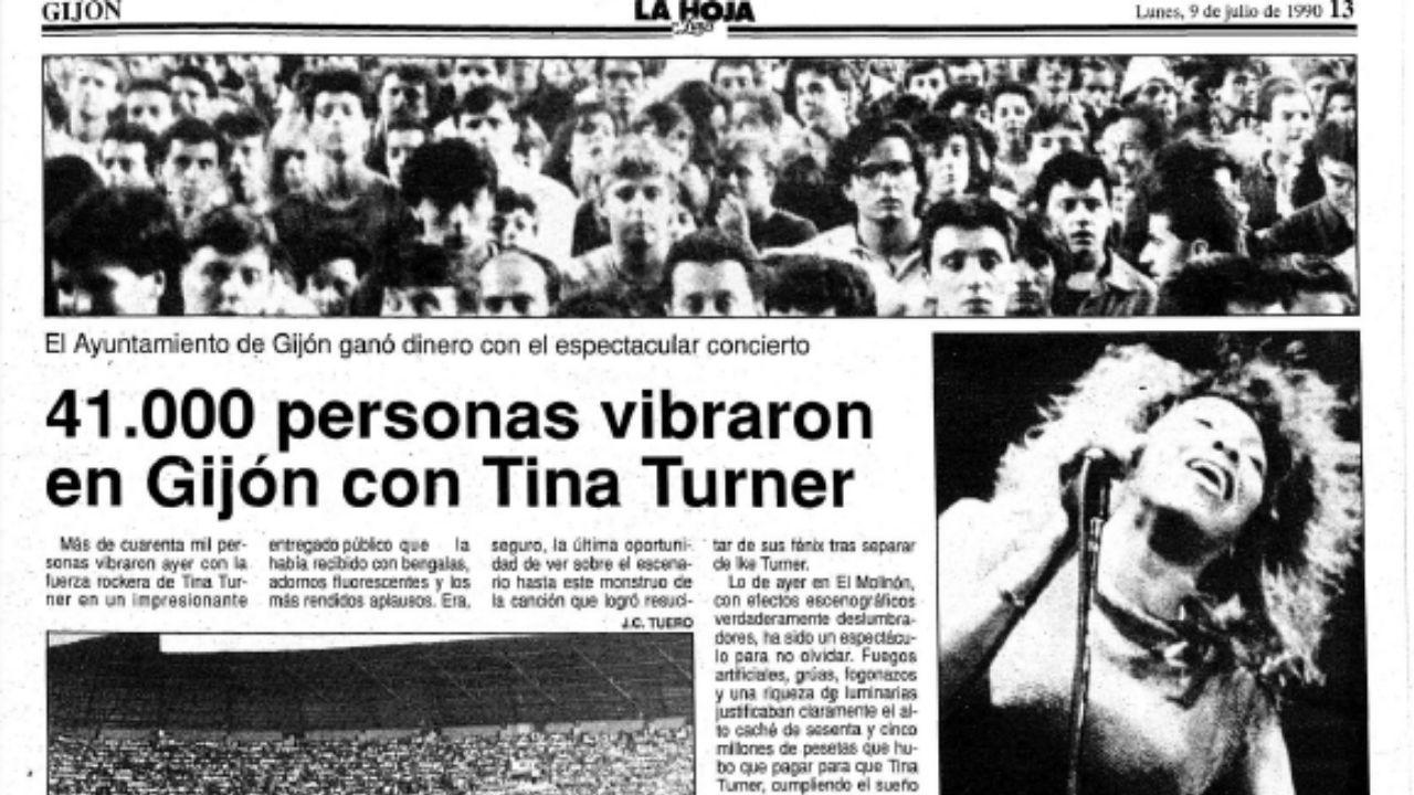 Un plato de almejas de Carril con sorpresa.El concierto de Tina Turner en Gijón, en las páginas de la Hoja del Lunes