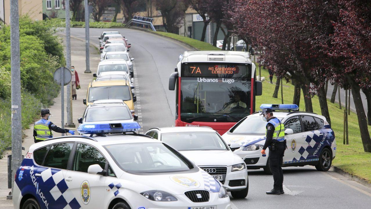Control de la Policía Local en Lugo