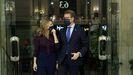 Yolanda Díaz y Alberto Núñez Feijoo, al iniciar su encuentro en el Ministerio de Trabajo