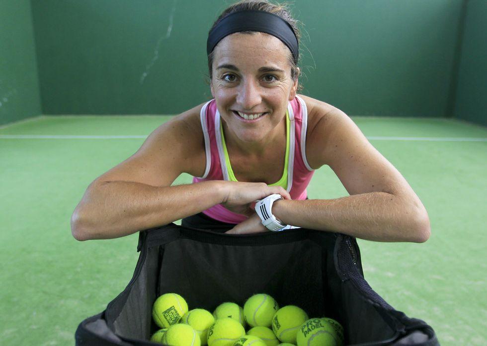 Domínguez jugó al tenis de niña y ahora se dedica al pádel de forma profesional.