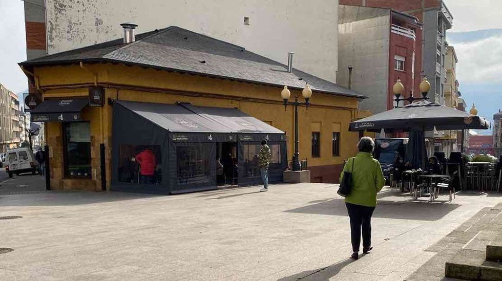 Ambiente de terraceo en A Rúa de Valdeorras