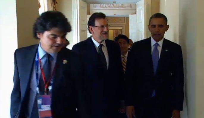 Rajoy y Obama, juntos en San Petesburgo.Sánchez rechazó por inadecuada la invitación de Mas para que Rajoy acuda a la Generalitat.