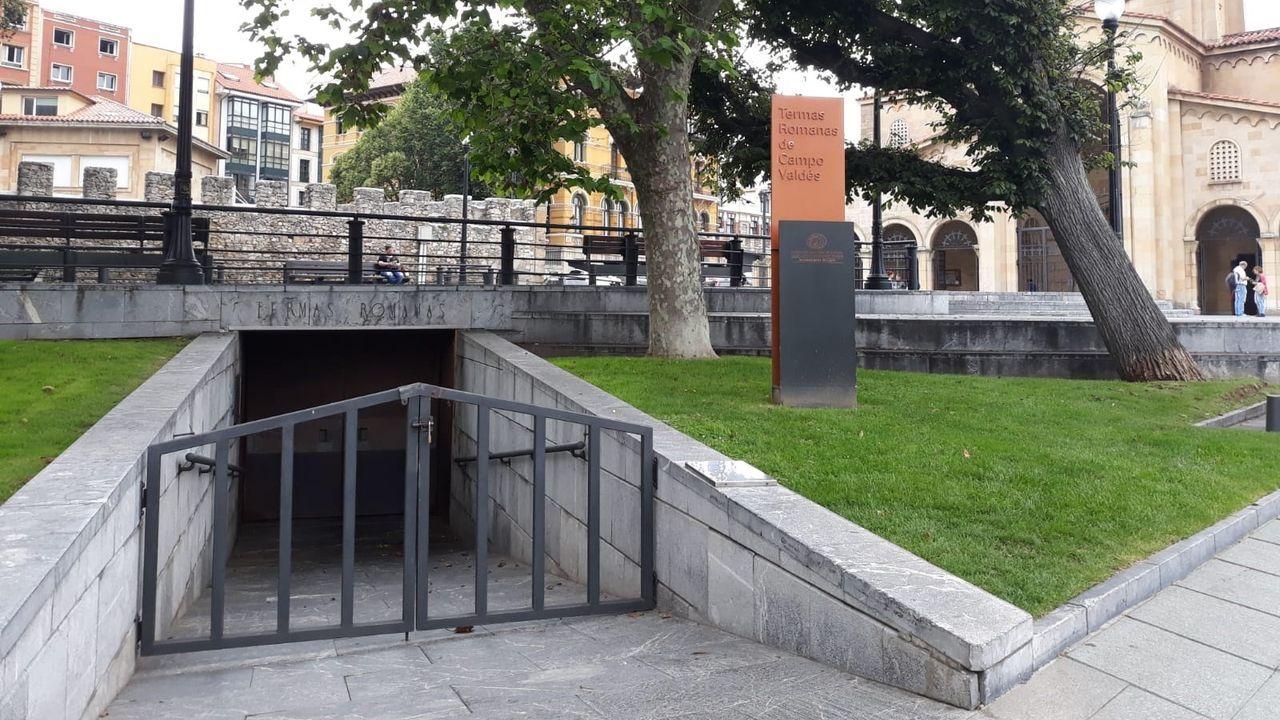 Entrada a las Termas Romanas de Gijón