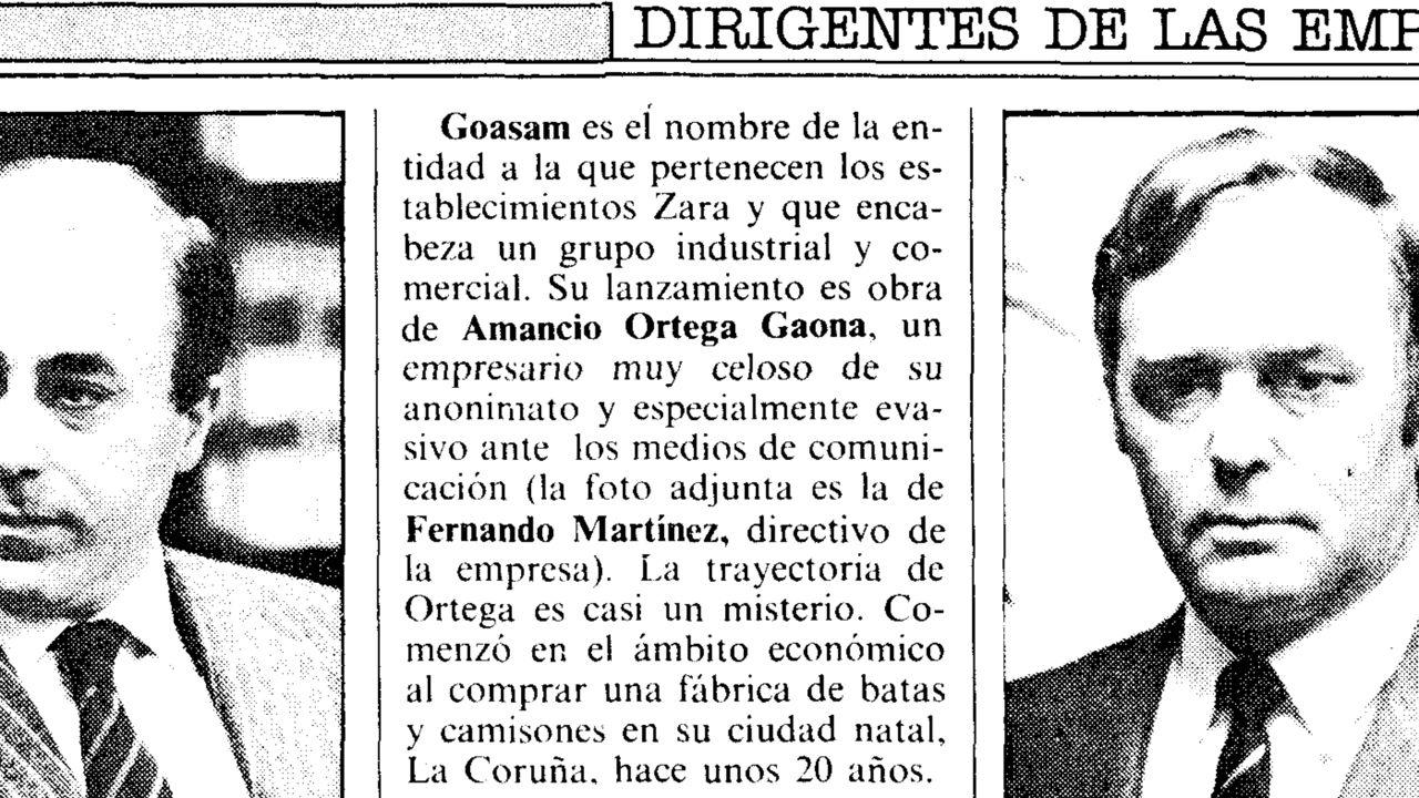 Mencionado como uno de los líderes de la industria en Galicia el viernes 10 de febrero de 1989