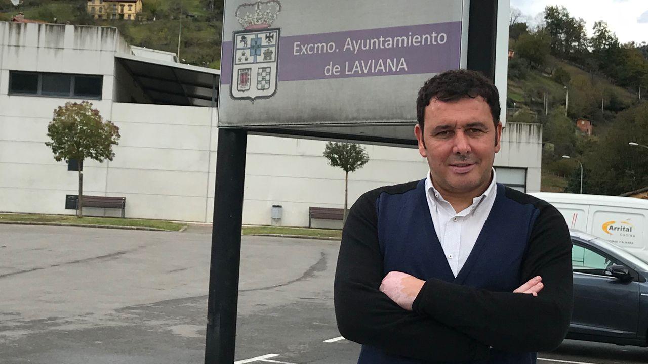 El alcalde de Laviana, Julio García.El alcalde de Laviana, Julio García