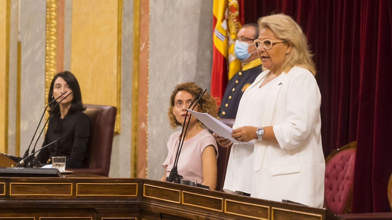 Vista general de la cárcel de Asturias.Ángeles Pedraza, ayer en el Congreso durante su discurso de homenaje a las víctimas del terrorismo