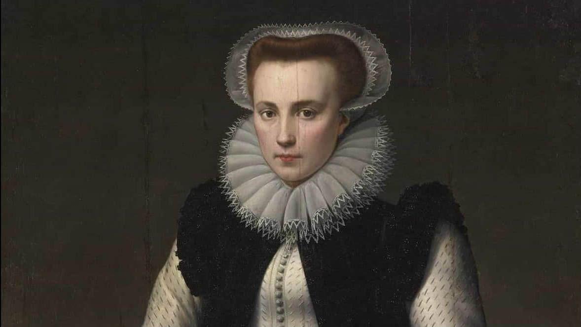 «Retrato de una dama» (1580) que pasa por ser Erzsébet Báthory, en un óleo del pintor flamenco Anthonie van Montfoort. La condesa tenía entre sus antepasados más ilustres a Vlad Tepes «el Empalador», más conocido como Drácula