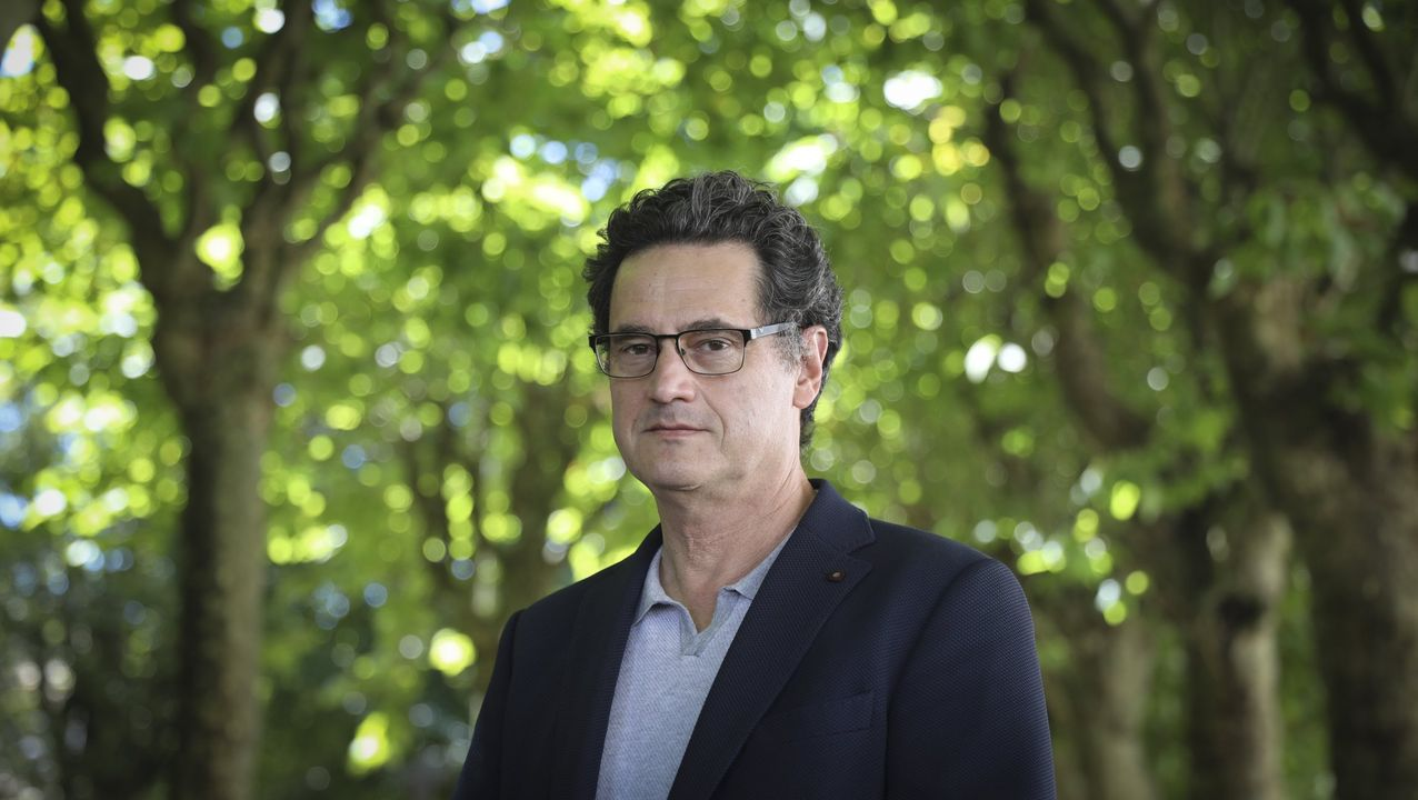 Feijoo, ayer, con José Manuel Romay Beccaría