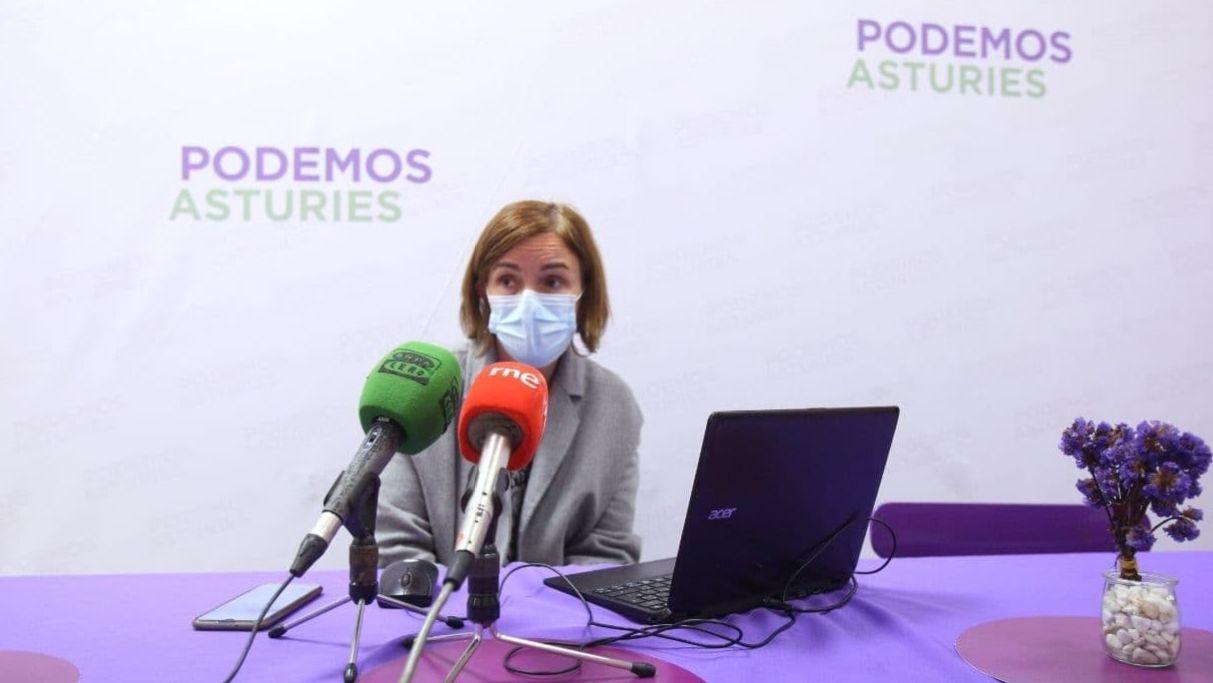 La portavoz de Salud de Podemos en Asturias, Covadonga Tomé