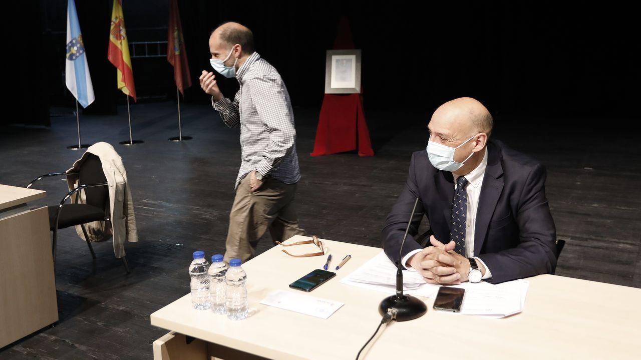Jácome y Armando Ojea, dos de los tres concejales que forman el gobierno ourensano