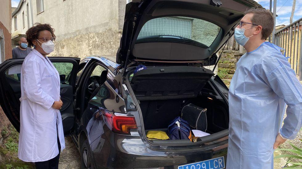 Lavacunación a domicilio en el rural de Ourense