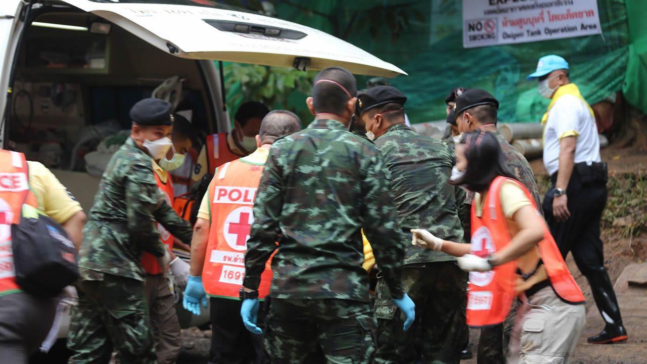 Las imágenes del rescate en la cueva de Tailandia.Imágenes de los trabajos de rescate en la cueva donde se perdieron los niños tailandeses con su monitor