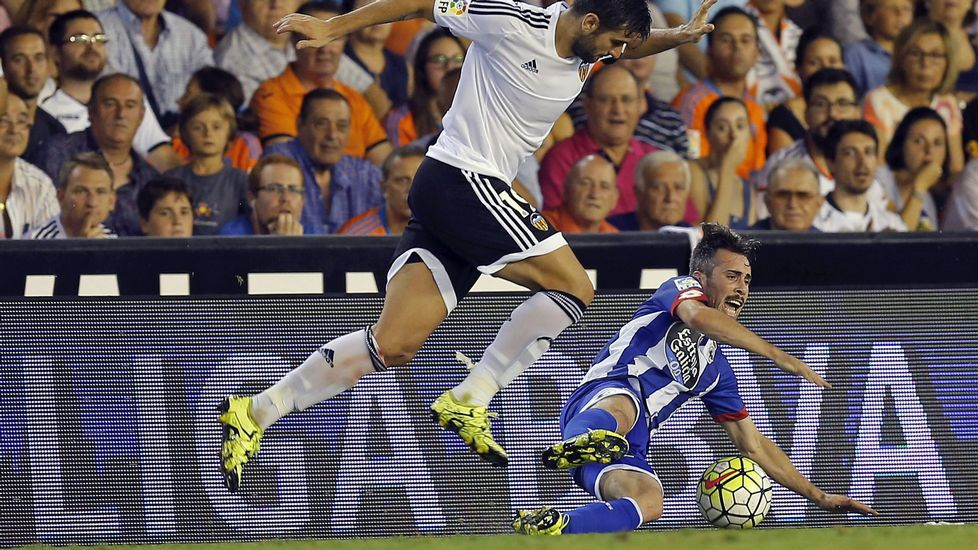 El Valencia - Deportivo, en fotos