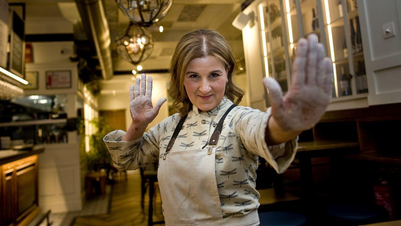 Sonia Díaz García, cocinera y copropietaria de El Serrano de la Galera, en A Coruña