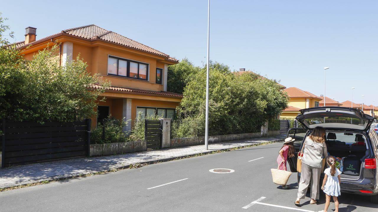 En la fotografía, una de las viviendas deshabitadas en la urbanización Ciudad Jardín