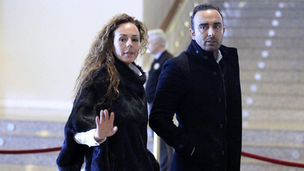 Correos edita un sello homenaje a Rocío Jurado.Rocío Carrasco y Fidel Albiac, en una imagen de archivo