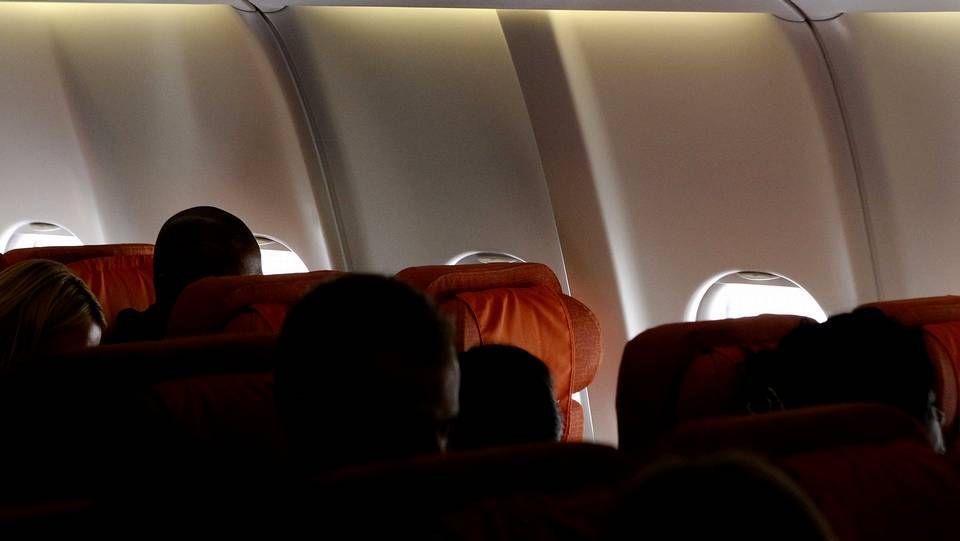 Asento vacío en el que debía viajar Snowden