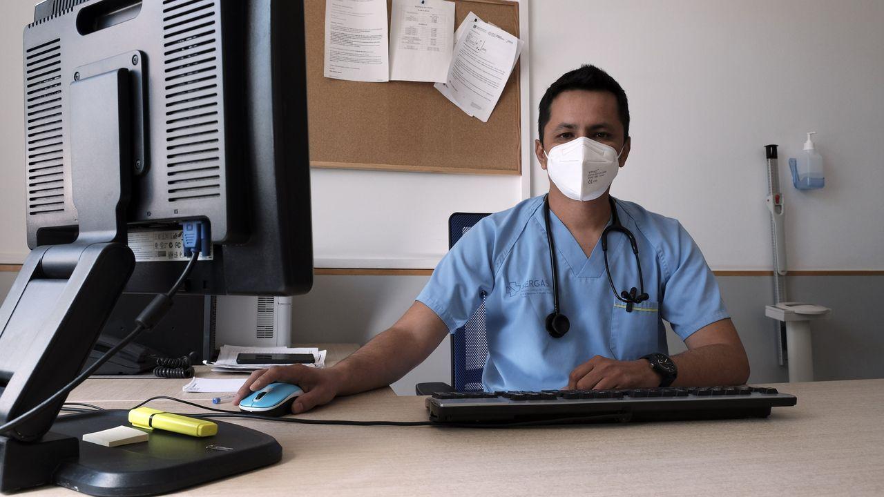 Juan Pablo Arequipa es médico de urgencias del PSC Fontenla Maristany de Ferrol