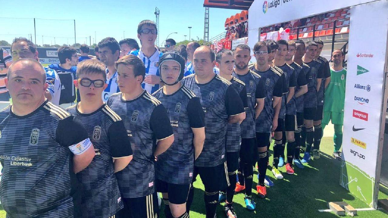 Real Oviedo La Liga Genuine.Representación del Real Oviedo en la gran final de LaLiga Genuine Santander