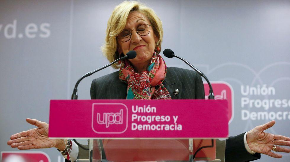 Rosa Díez: «Esta portavoz sigue teniendo fuerza para defender nuestros principios».Cantó moderó sus críticas a Rosa Díez y se mostró «ilusionado» con la reunión de hoy.