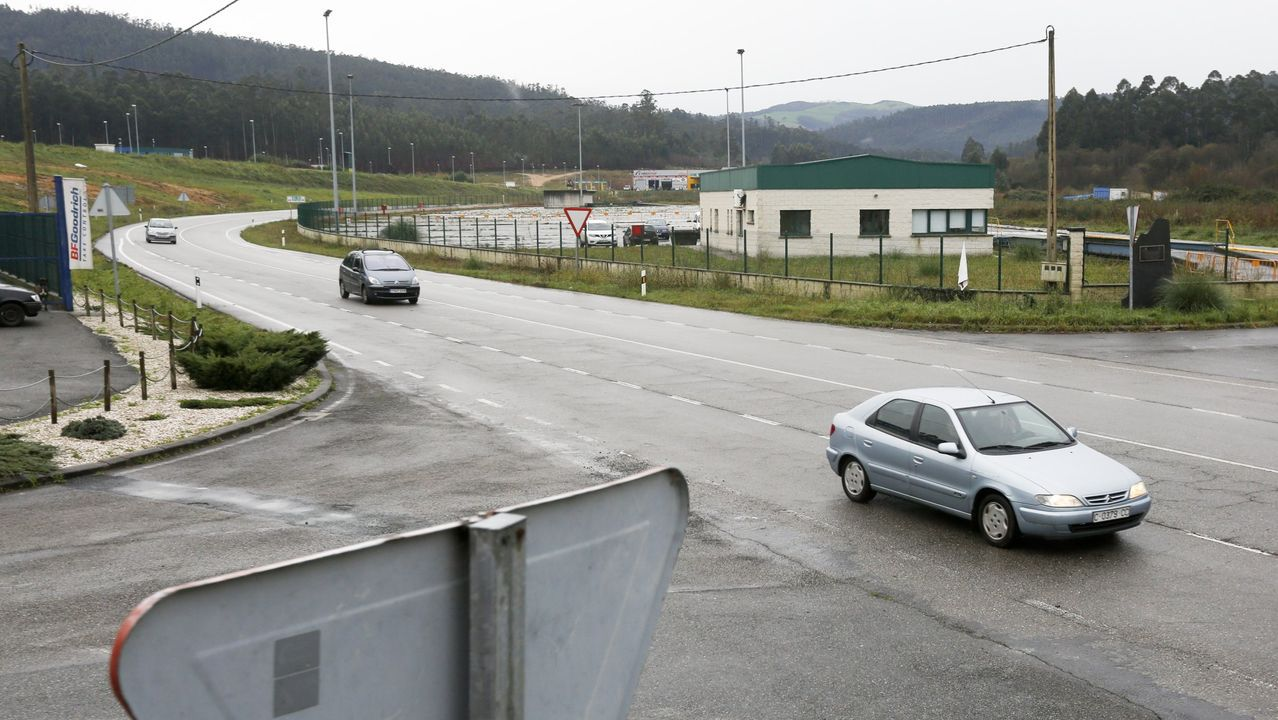 Polígono industrial de A Rega, en la parroquia de Cuíña, en Ortigueira