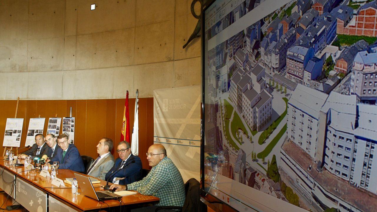 Las imágenes de cómo será el nuevo centro de salud en la Residencia.El consejero de Sanidad, Francisco del Busto, comparece en el pleno de la Junta General