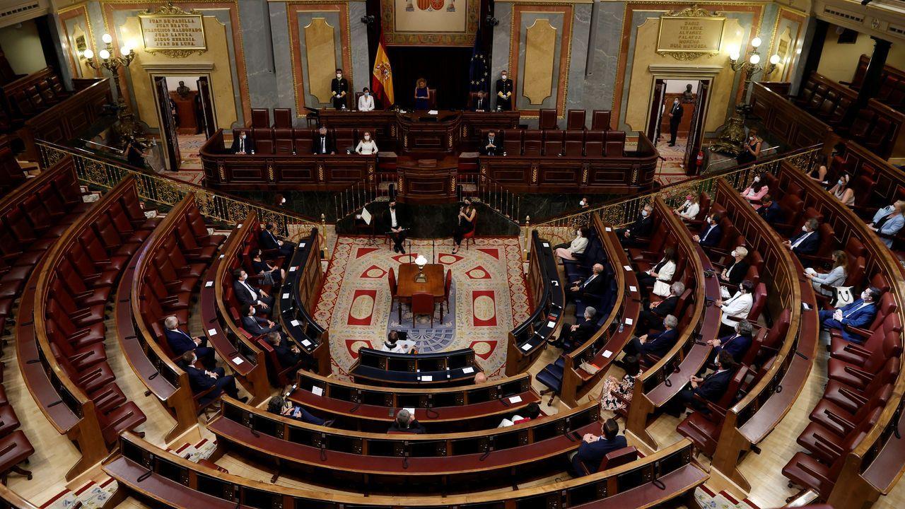 Vista general durante el acto solemne por el Día de las Víctimas del Terrorismo celebrado este domingo en el Congreso de los Diputados