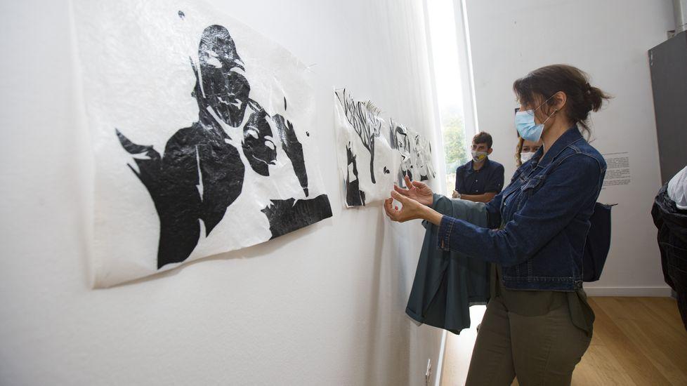 El artista y su obra, Elías Cochón.Atilano López Arias, joven de Sarria que trabaja en Varsovia en la multinacional MoneyGram International