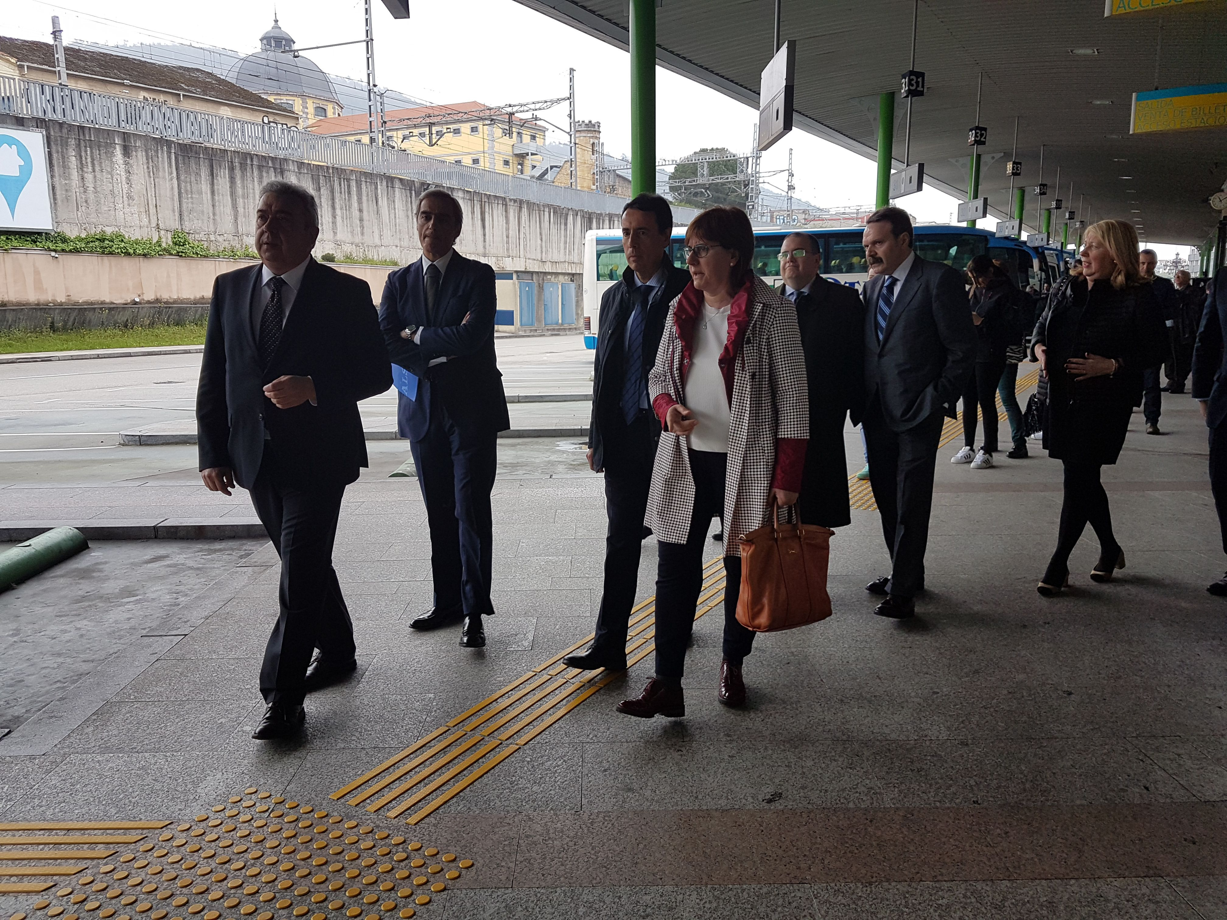 Presentación de las mejoras acometidas en la estación de autobuses de Oviedo.Presentación de las mejoras acometidas en la estación de autobuses de Oviedo