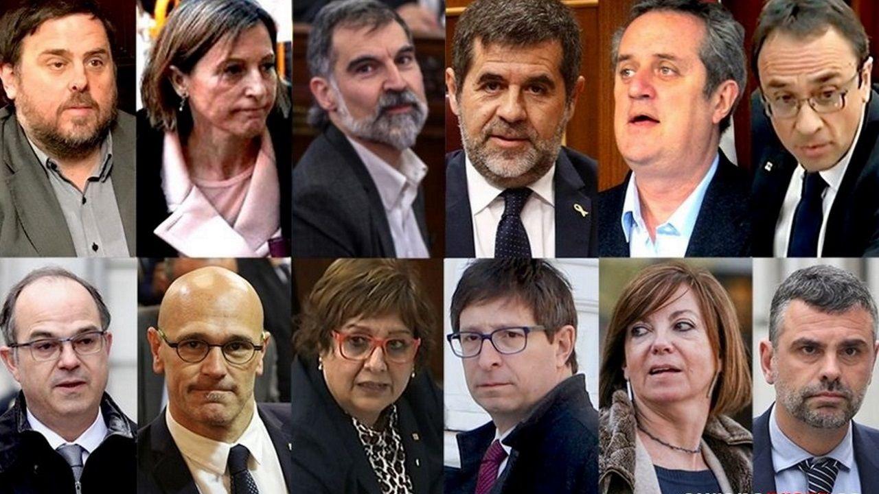 Los doce líderes independentistas condenados por el  procés