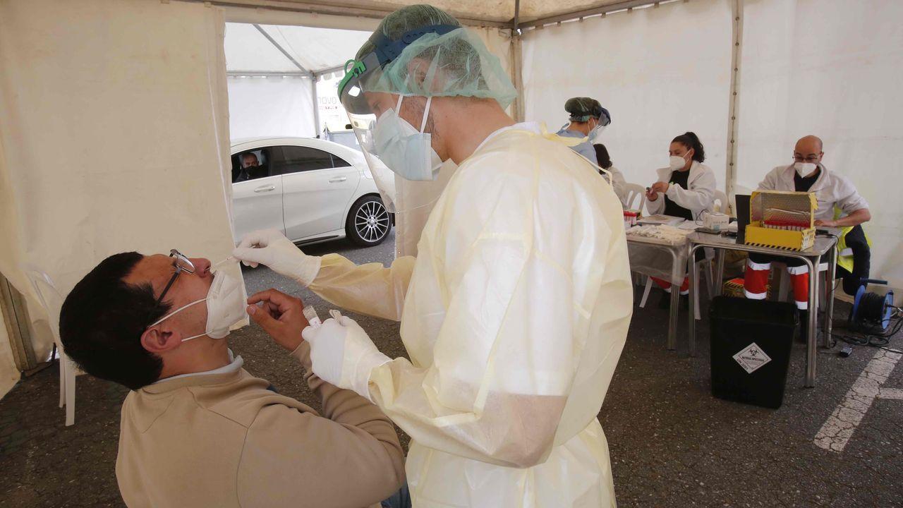 Visita a las obras de la estación intermodal.Esta semana se llevaron a cabo pruebas PCR en una carpa habilitada en baltar, Portonovo