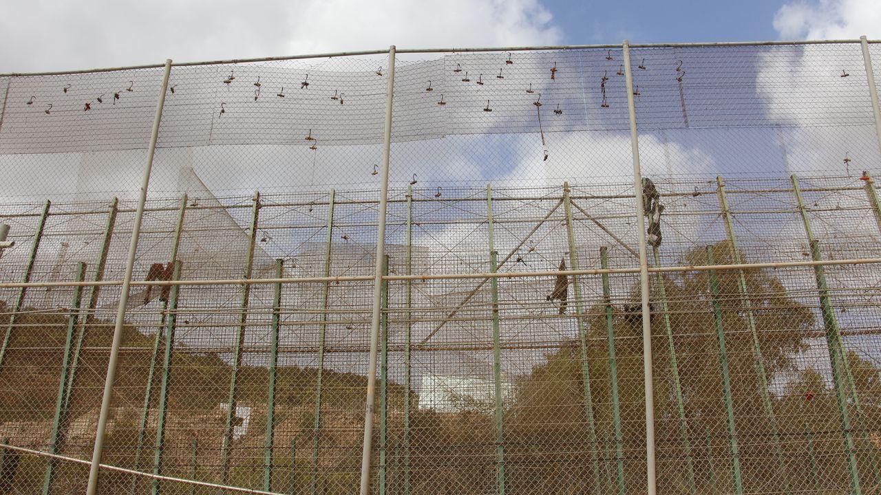 Un sector de la valla de Melilla.