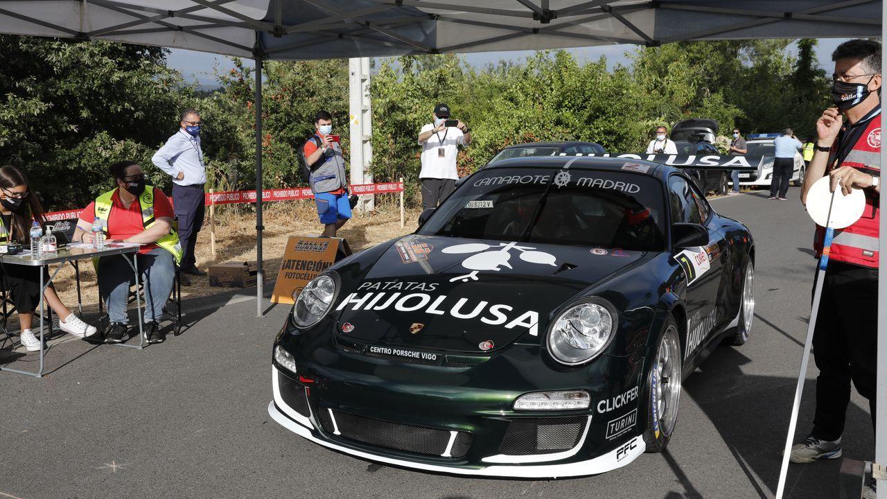 Rali de Ourense 2020.Sergio Vallejo, con el Porsche con el que corre con Escudería Ourense